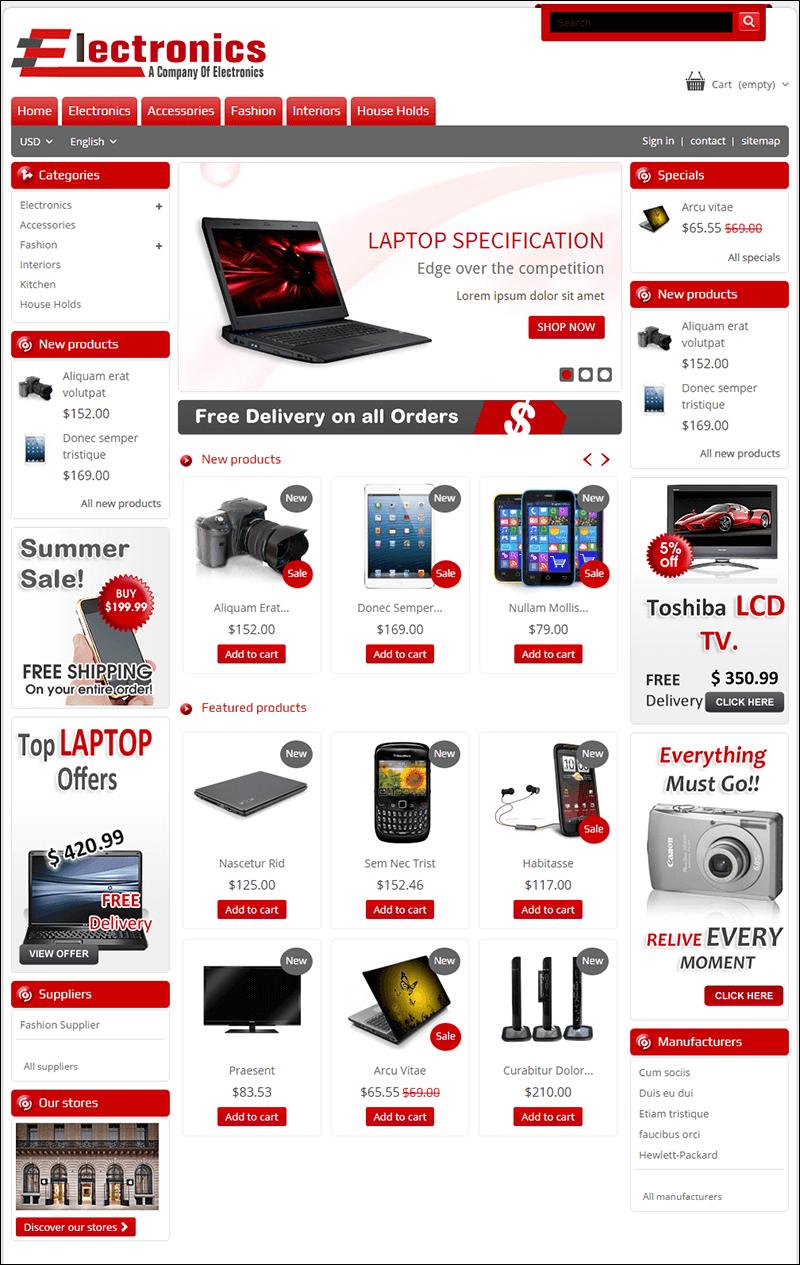 Electronics Store – Prestashop Theme