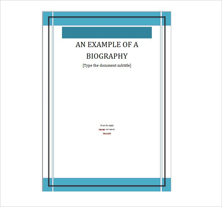 Example Of Biography Template