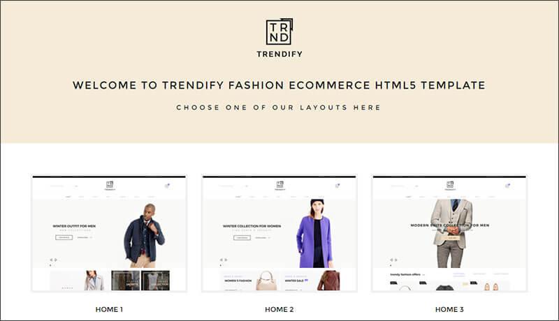 Fashion eCommerce HTML5 Template