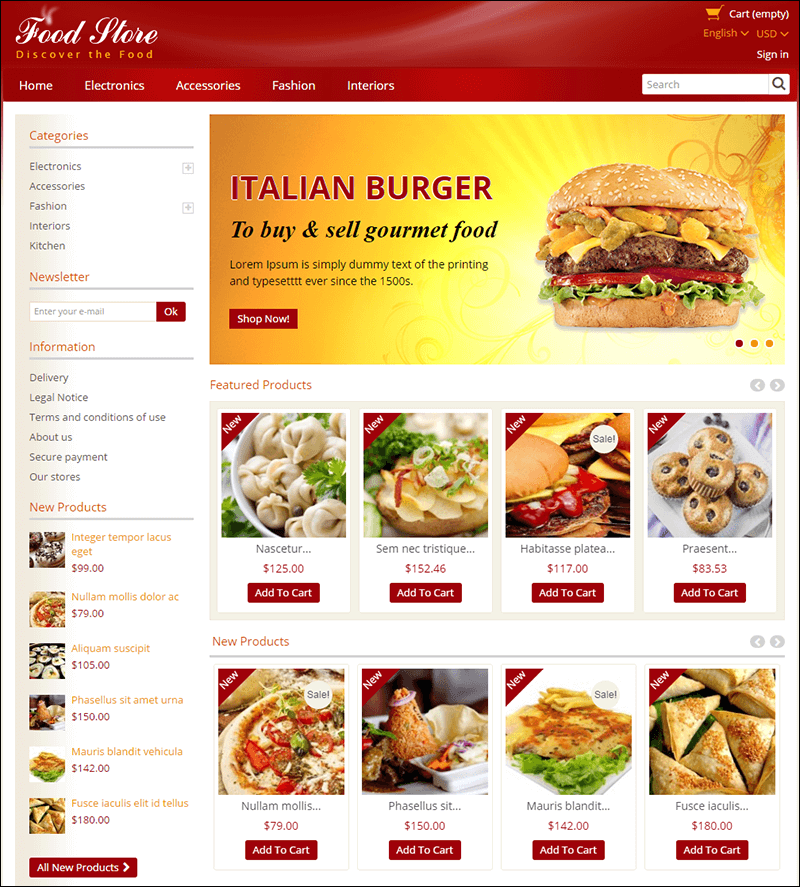 Food Store – Prestashop Responsive Theme
