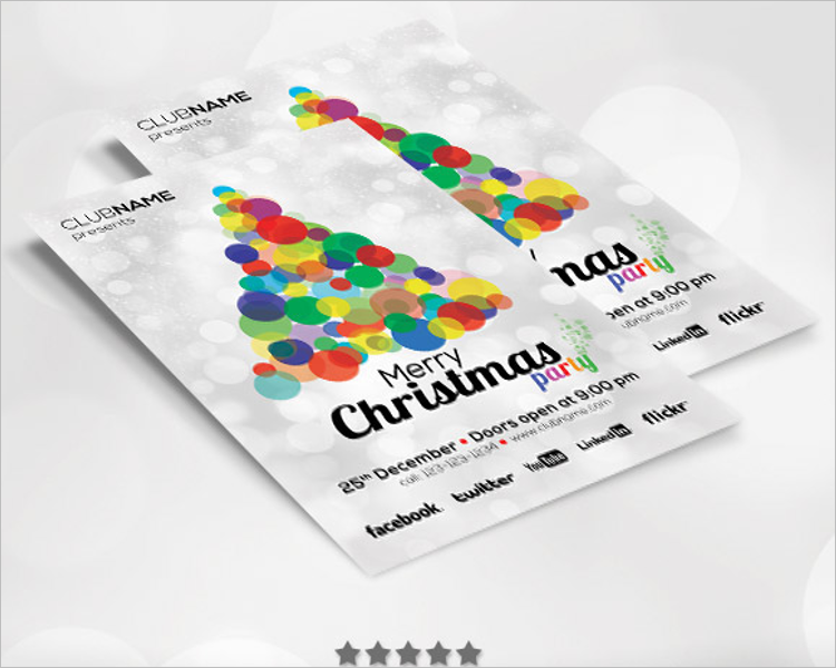 free christmas poster template