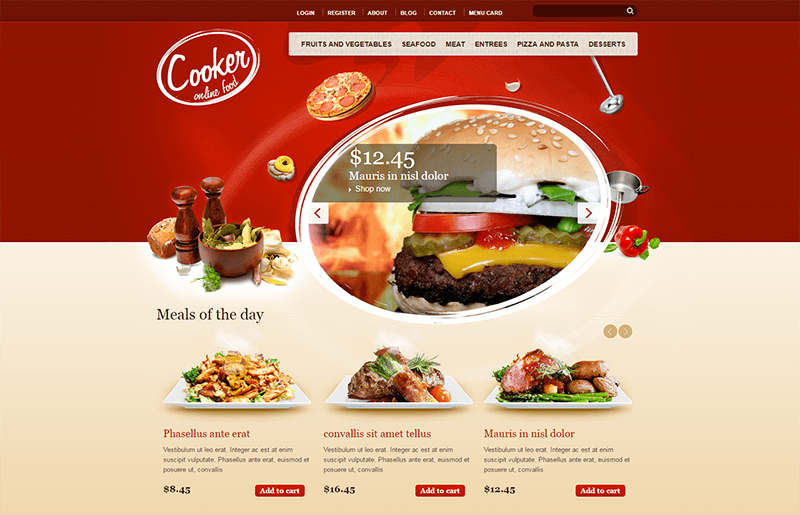 HTML5 & CSS3 Drupal Theme For Restaurant