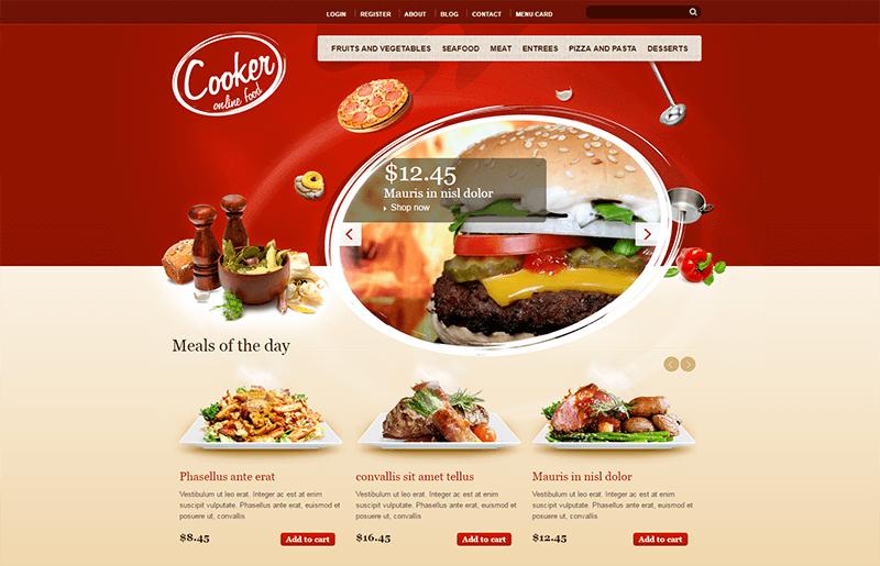 HTML5 & CSS3 Drupal Theme For Restaurant