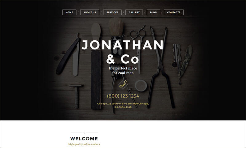 Hair Salon Responsive Template