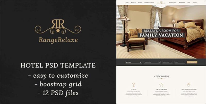 Hotel & Resort PSD Template
