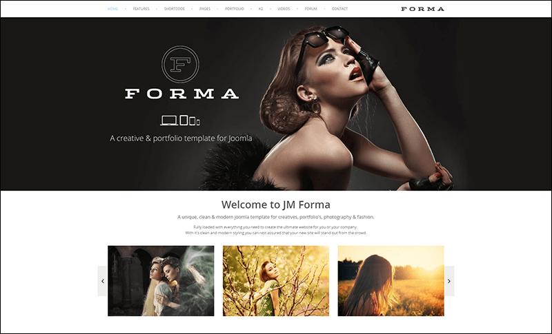 JM Forma, Responsive Multi Purpose Joomla Template