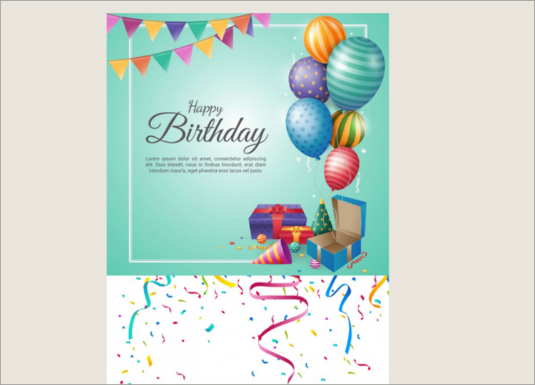 Latest Birthday Email Template