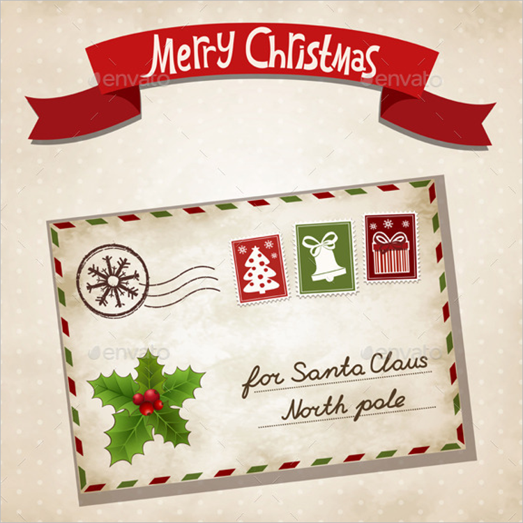 Marry Christmas Letter Template
