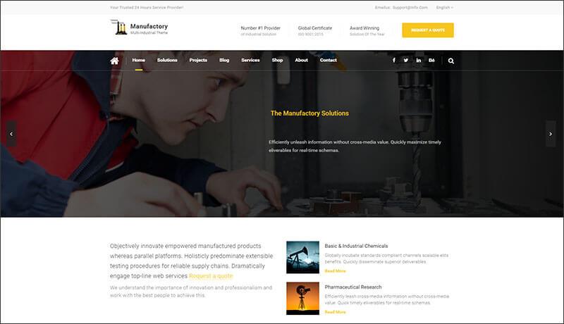 Multi-Industrial HTML Template