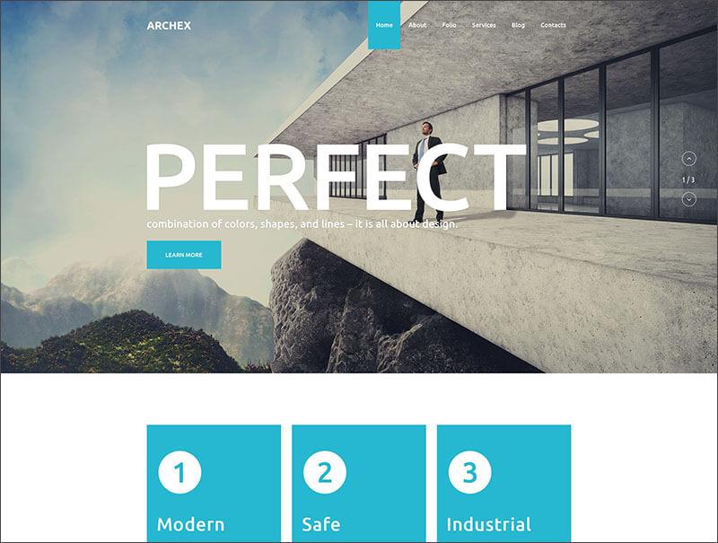 New Architectural WordPress Theme
