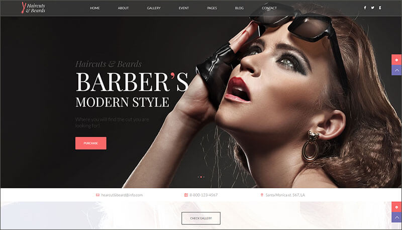 New Barbershop & Hair Salon Theme