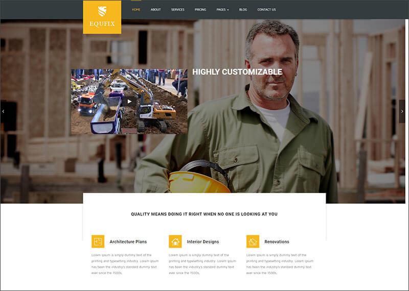 New Building & Construction WordPress Theme