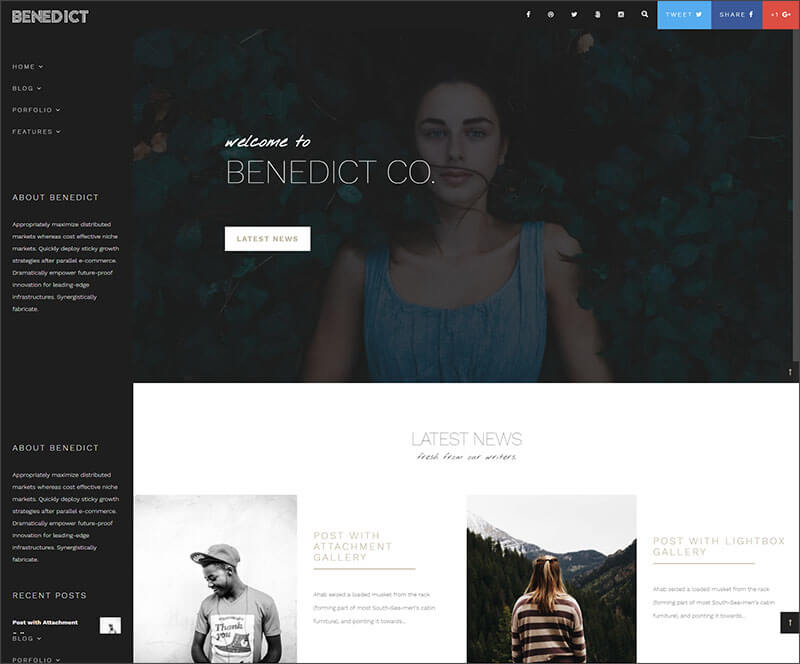 New Creative Side Navigation BlogPortfolio Theme