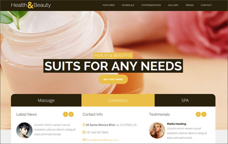 New Health & Beauty SPA Salon Theme