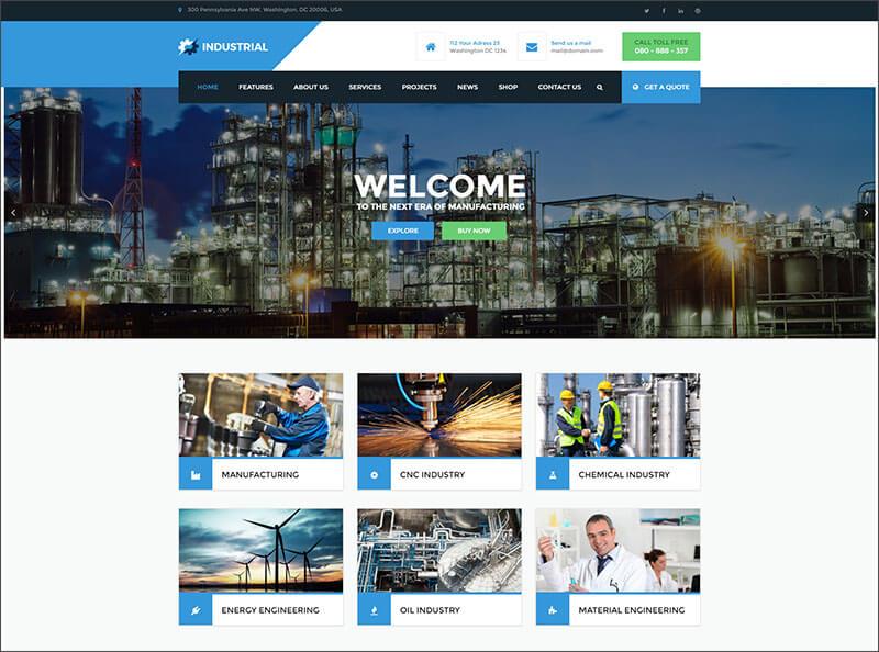 New Manufacturing WordPress Theme