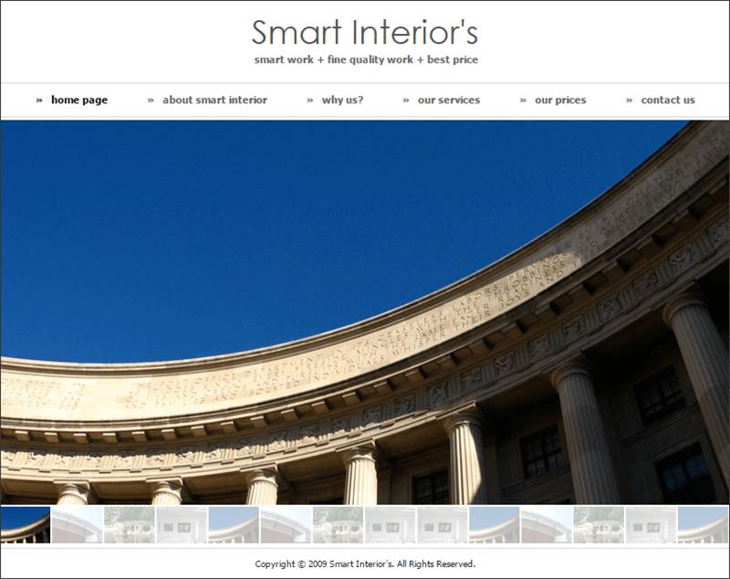 New Smart Interiors Drupal Template