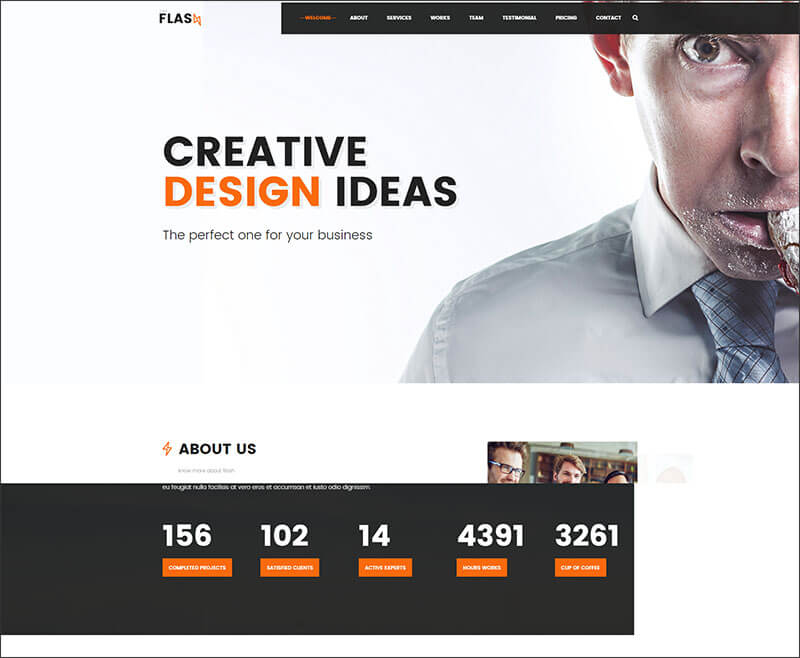 One Page Agency, Startup, Company Bootstrap Template
