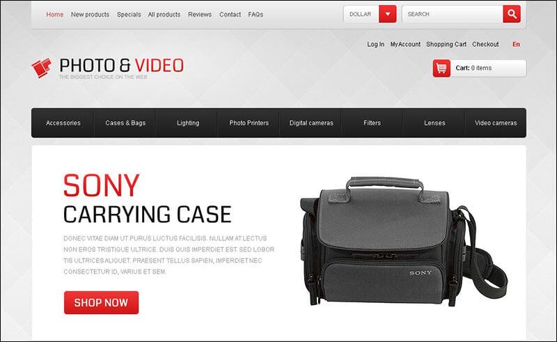 Photo & Video Appliances ZenCart Template