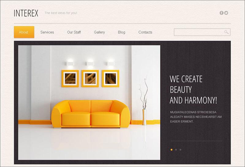 Premium Interior Design Drupal Template