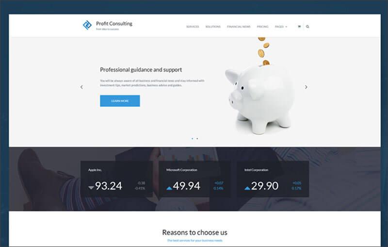 Premium WordPress Financial Theme