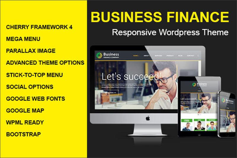 Responsive Business Finance WordPress Theme
