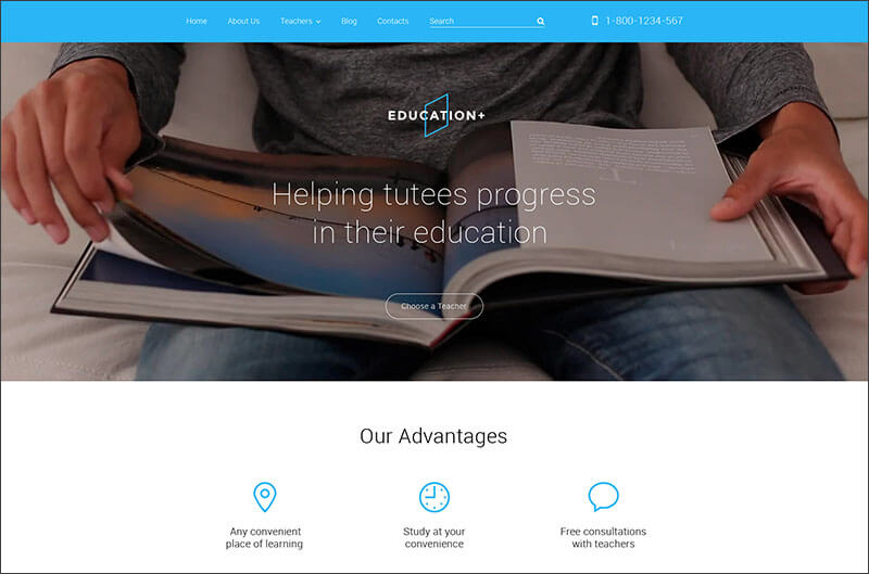 Responsive Education Drupal Template