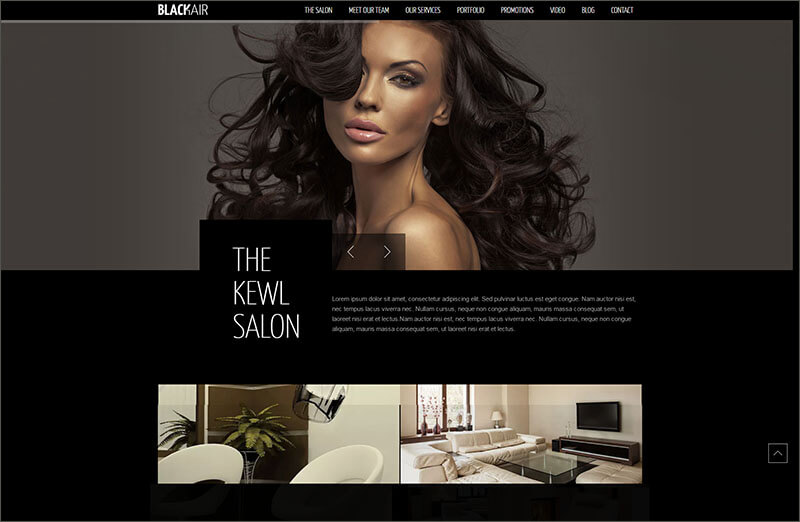 Responsive Hair Saloon Bootstrap Template
