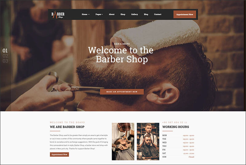 Responsive Hairdresser, Barber, Hair Salon, Shave Site Template