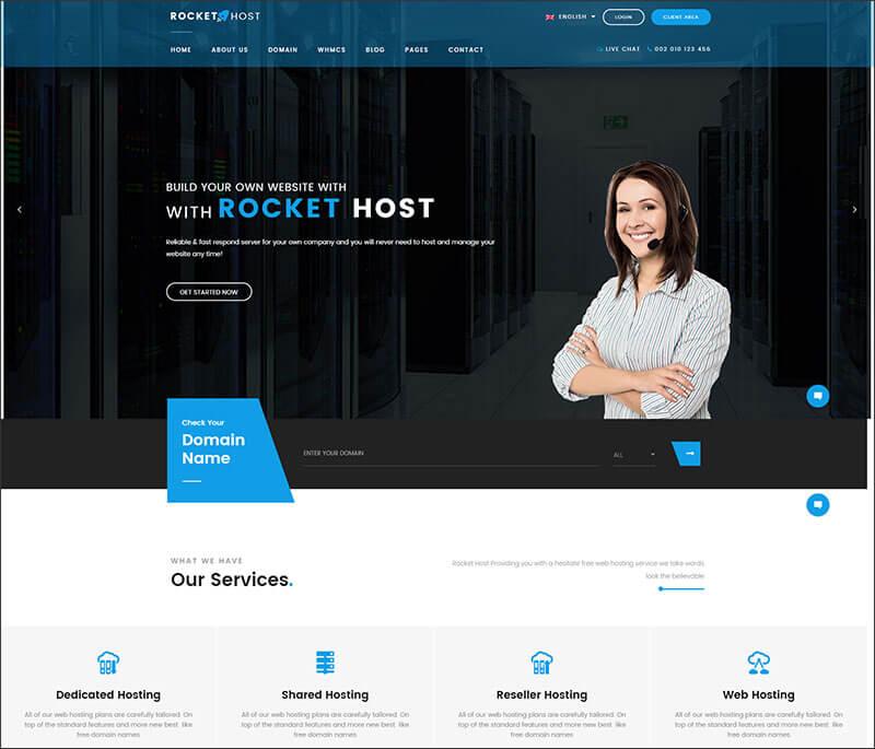 Responsive Hosting WordPress Theme