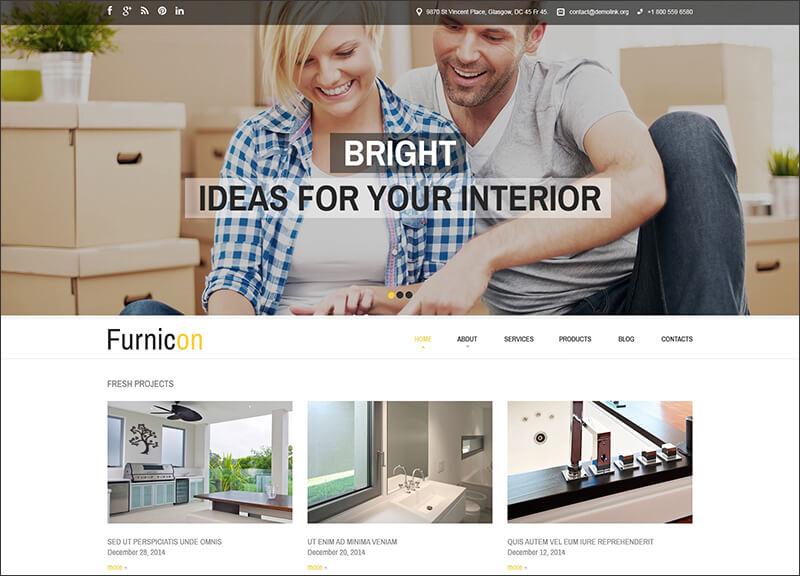 Responsive Interior Design Drupal Template