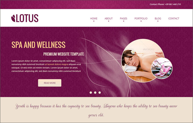 Responsive Spa & Wellness Template