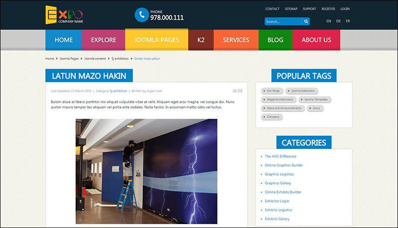 SJ Expo – Responsive Joomla Template for Directory Websites