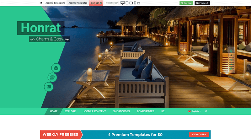 SJ Honrat – Responsive Joomla Template for Travelling