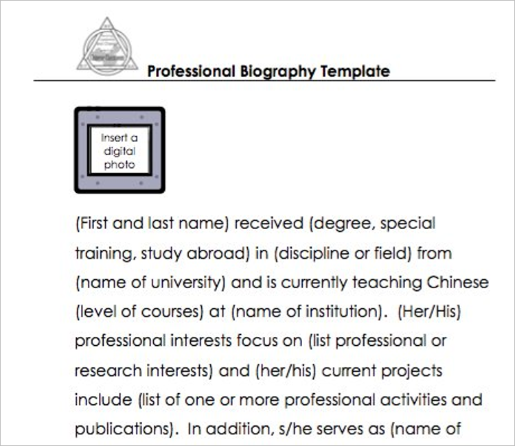 Simple Biography Template