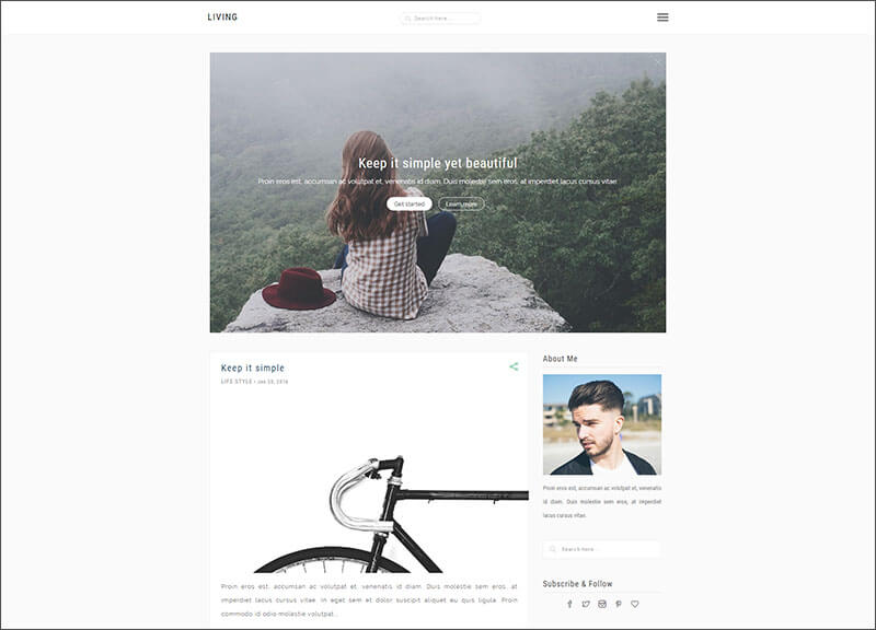 Simple & Elegant blog for Creatives