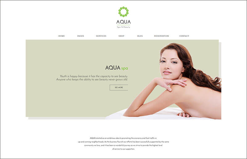 Spa and Beauty Bootstrap Template