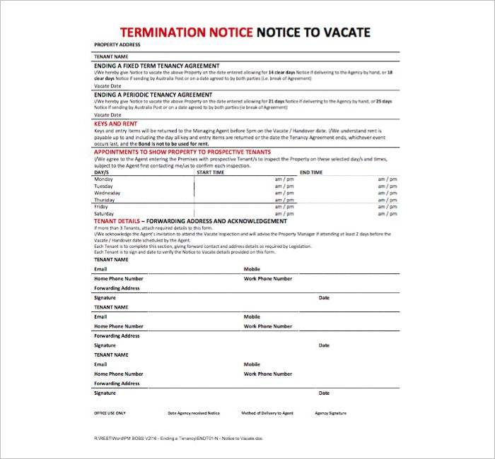Termination Letter For Leasing