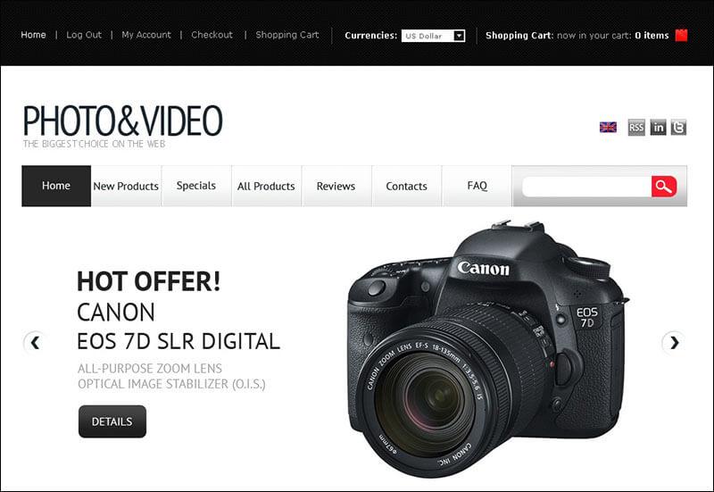 Video Store ZenCart Template 2