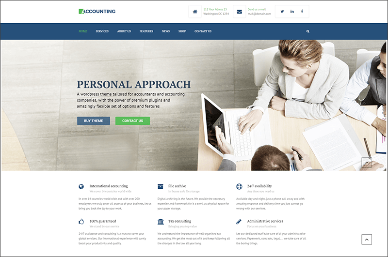 WP Business theme for Accountants