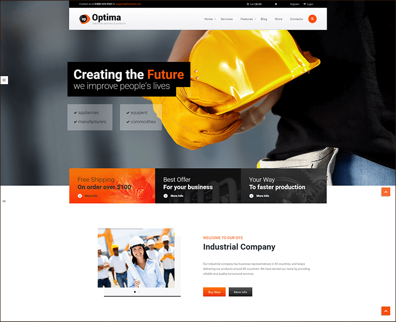 Woocommerce Industrial WordPress Theme