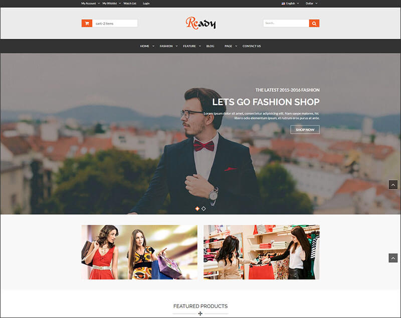eCommerce Bootstrap HTML5 Template