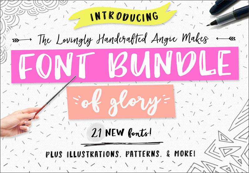 21 New Font Bundle of Glory