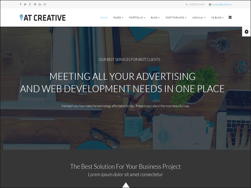 AT Creative Joomla! template