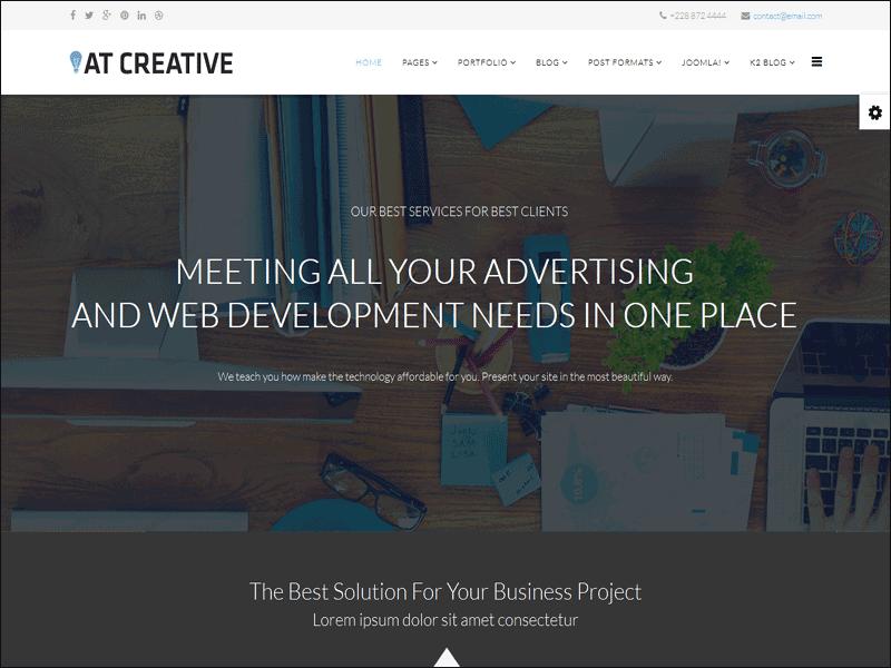 AT Creative Joomla! template