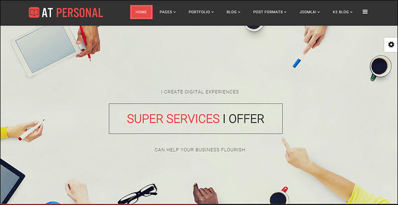 AT Personal Joomla Template