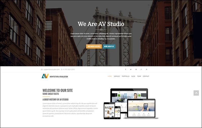 AV Studio - Responsive One Page Joomla Template
