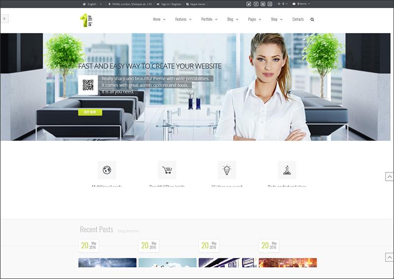 All in 1 - Shopify Theme. Multi-Purpose Business