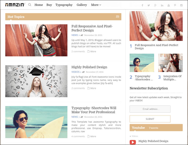 Amazin Responsive Multipurpose Blogger Template