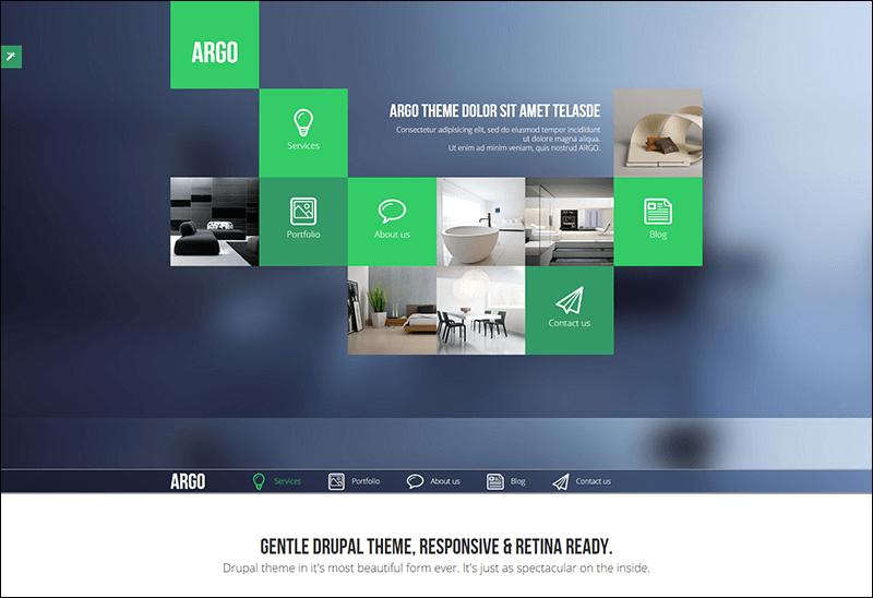 Argo - Modern OnePage Metro UI Drupal Theme