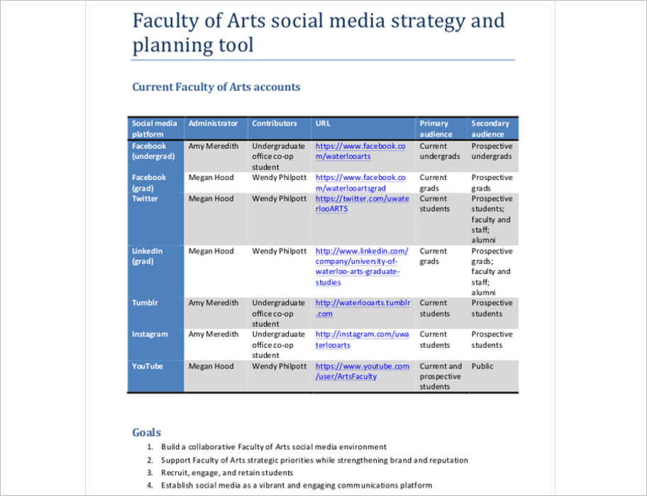 arts-social-media-marketing-strategy-template